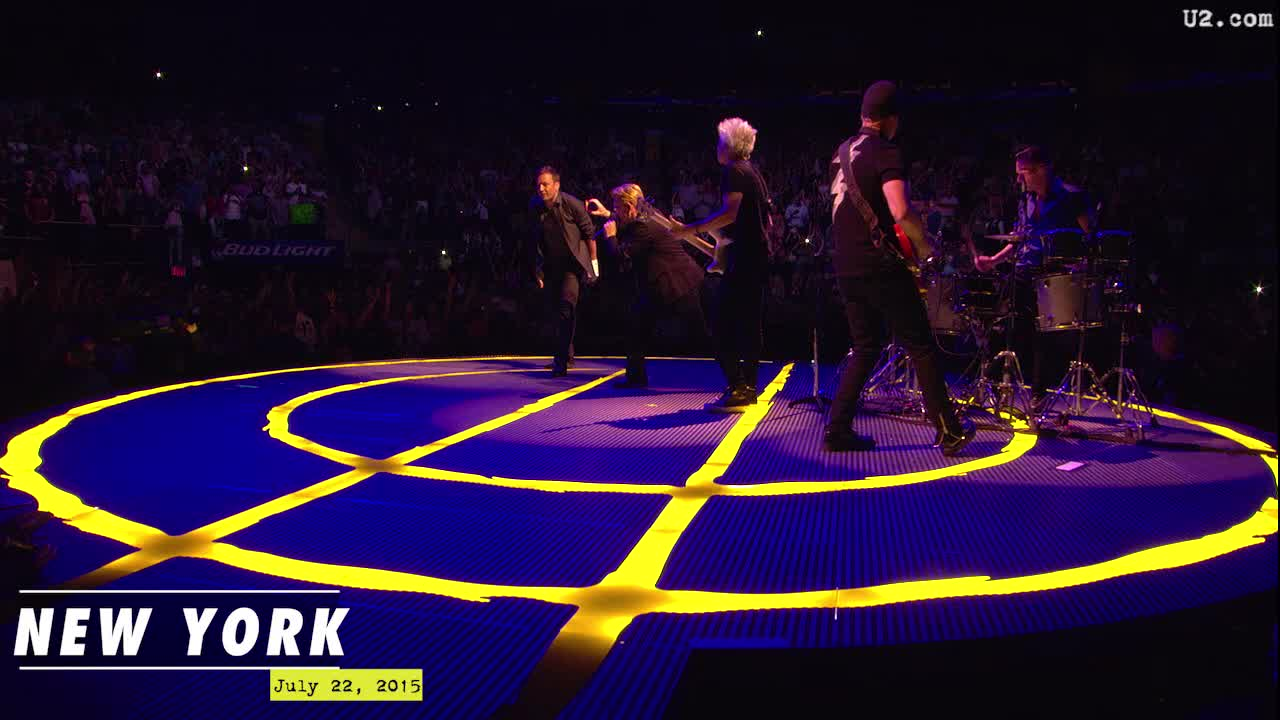 desire with jimmy fallon at madison square garden - U2 At Madison Square Garden